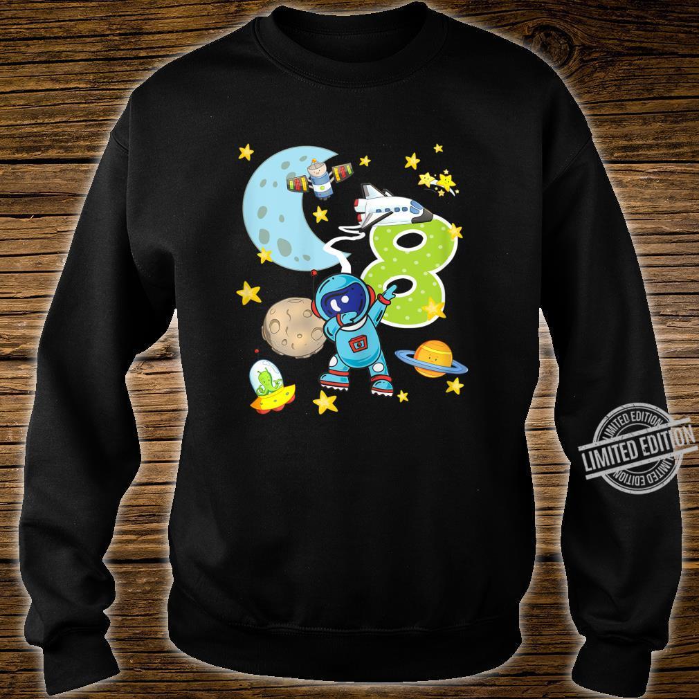 8. Geburtstag Astronaut 8 Jahre Weltraum Jungs Shirt sweater