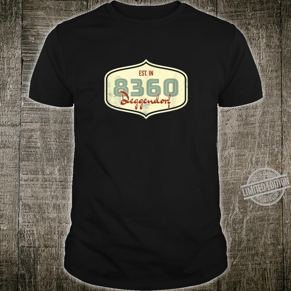 8360 Deggendorf Alte Postleitzahl Geschenk Shirt