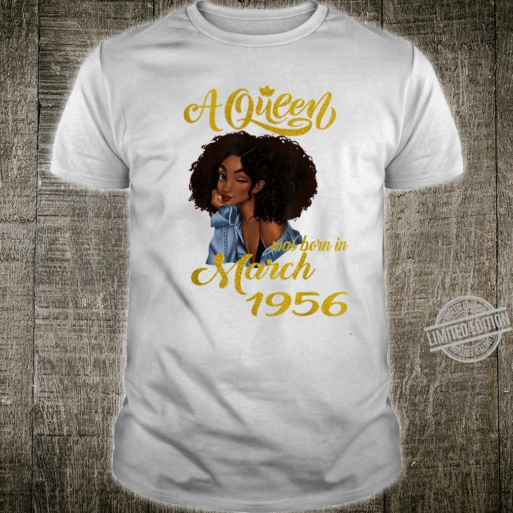 A Queen Was Born in March 1956 64th Birthday Shirt