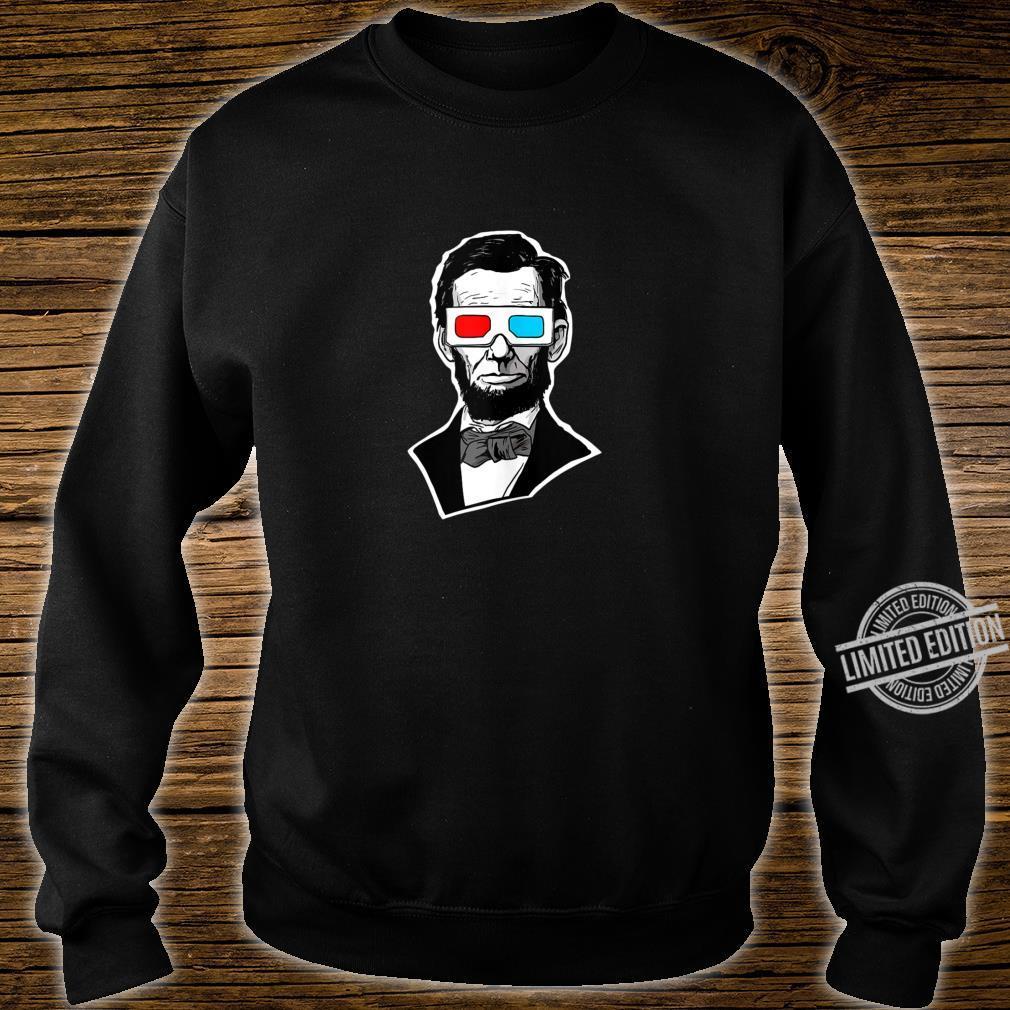 Abraham Lincoln 3D Glasses Abe Lincoln 3D Glasses Shirt sweater