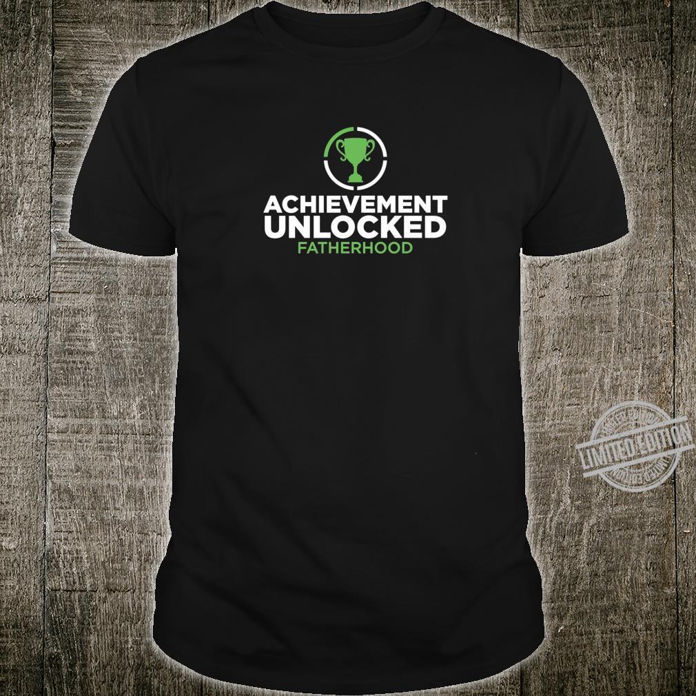 Achievement Unlocked Fatherhood Future Gamer Daddy Shirt