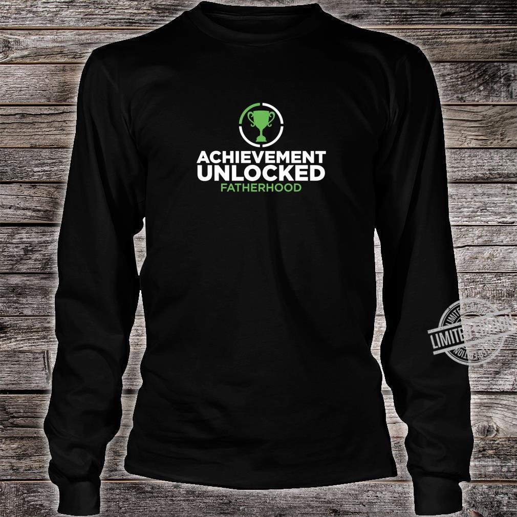 Achievement Unlocked Fatherhood Future Gamer Daddy Shirt long sleeved