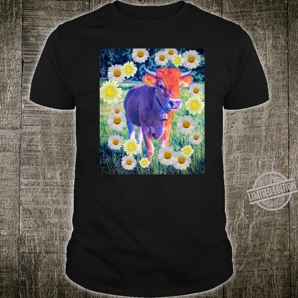 Adorable Purple Cow Farmhouse Style with Daisy Shirt