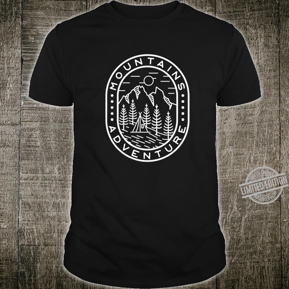 Adventure Mountains Vintage Badge style artwork Shirt