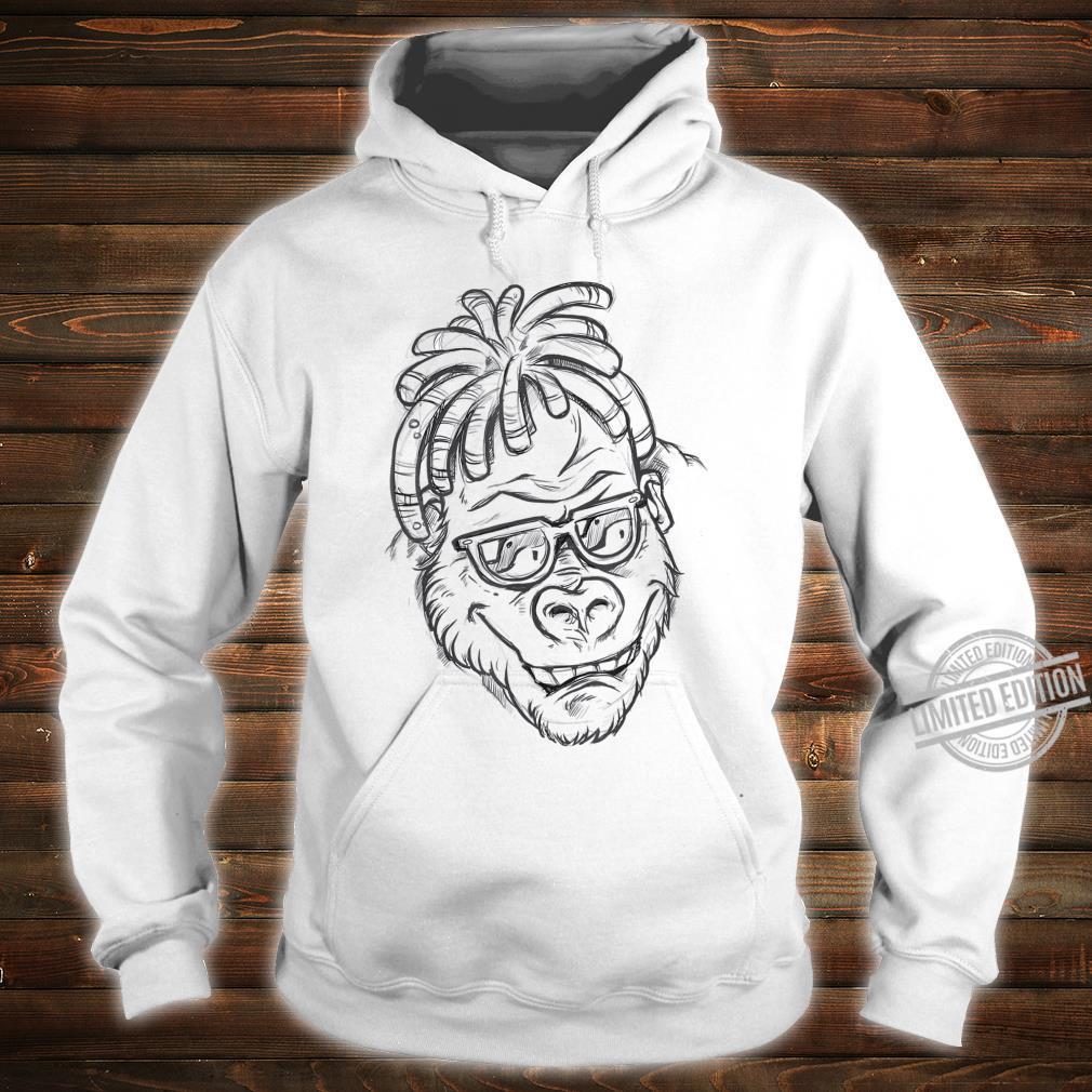 Affe Sonnenbrille Dreadlocks Shirt hoodie