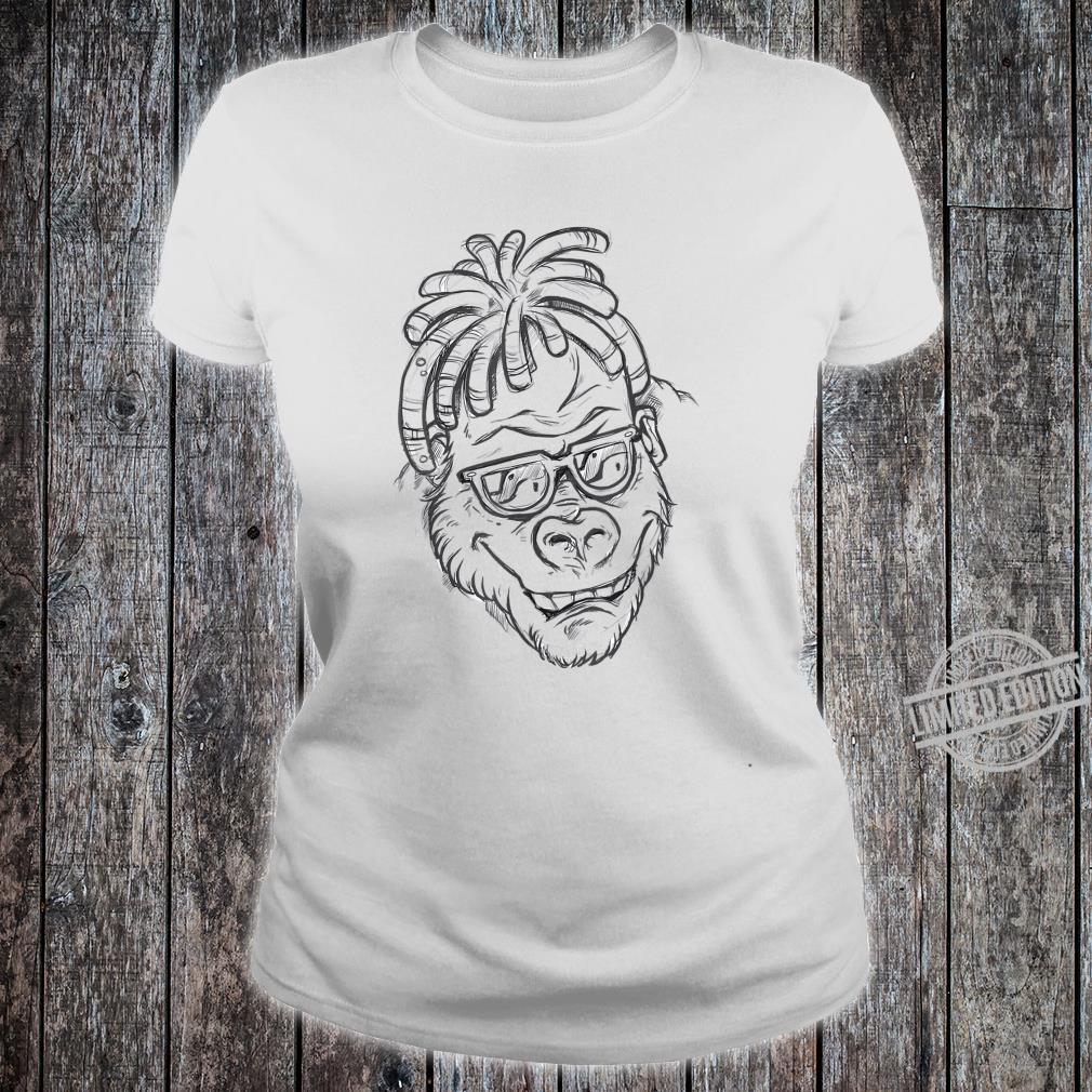 Affe Sonnenbrille Dreadlocks Shirt ladies tee