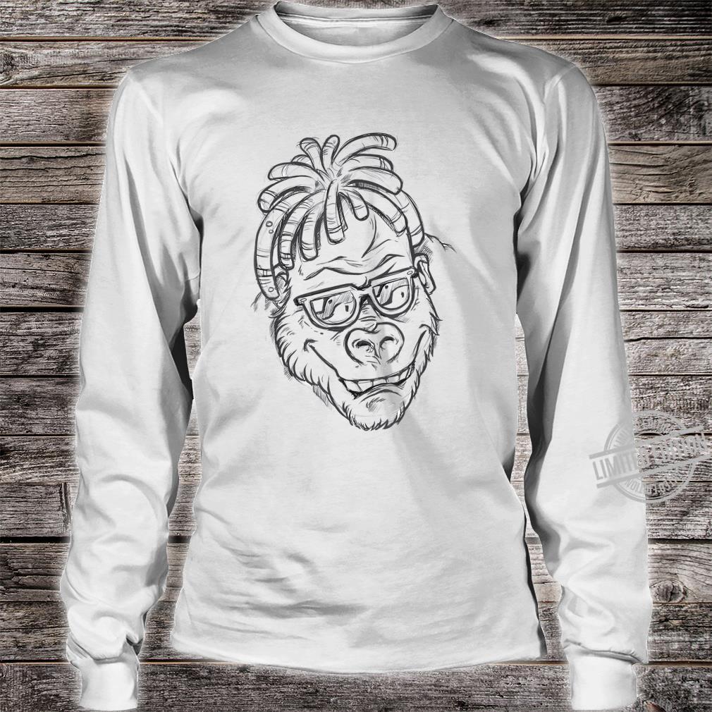 Affe Sonnenbrille Dreadlocks Shirt long sleeved