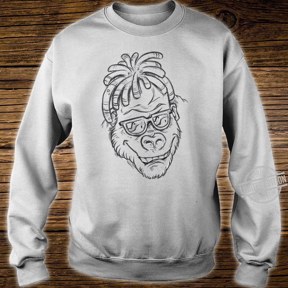 Affe Sonnenbrille Dreadlocks Shirt sweater