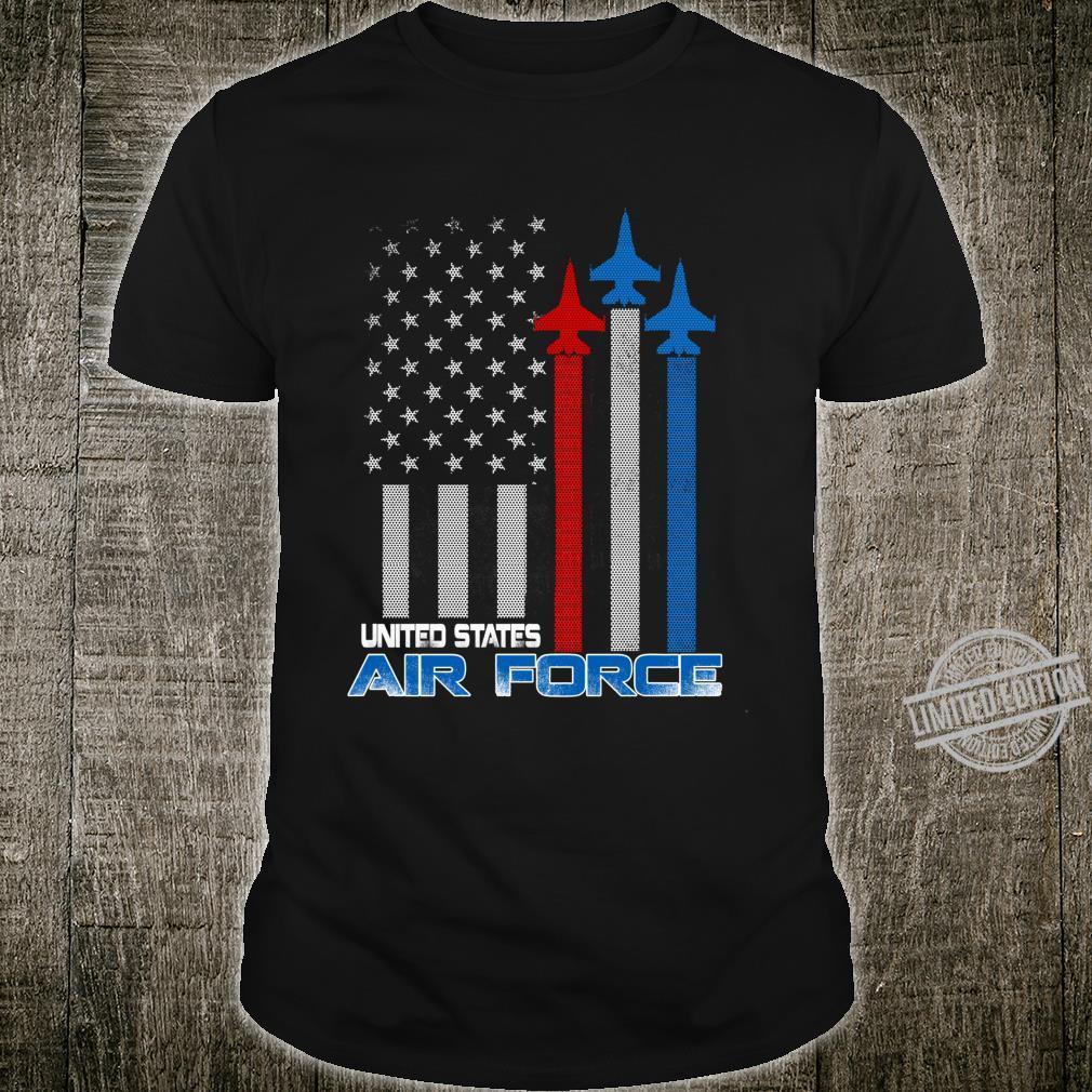 Air Force US Veterans 4th of July American Flag Shirt