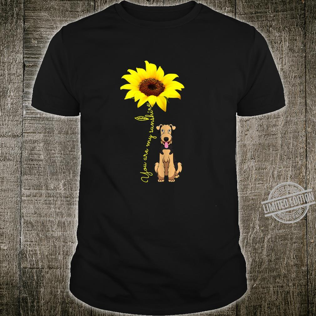 Airedale Terrier Mom You My SunshineSunflower Shirt