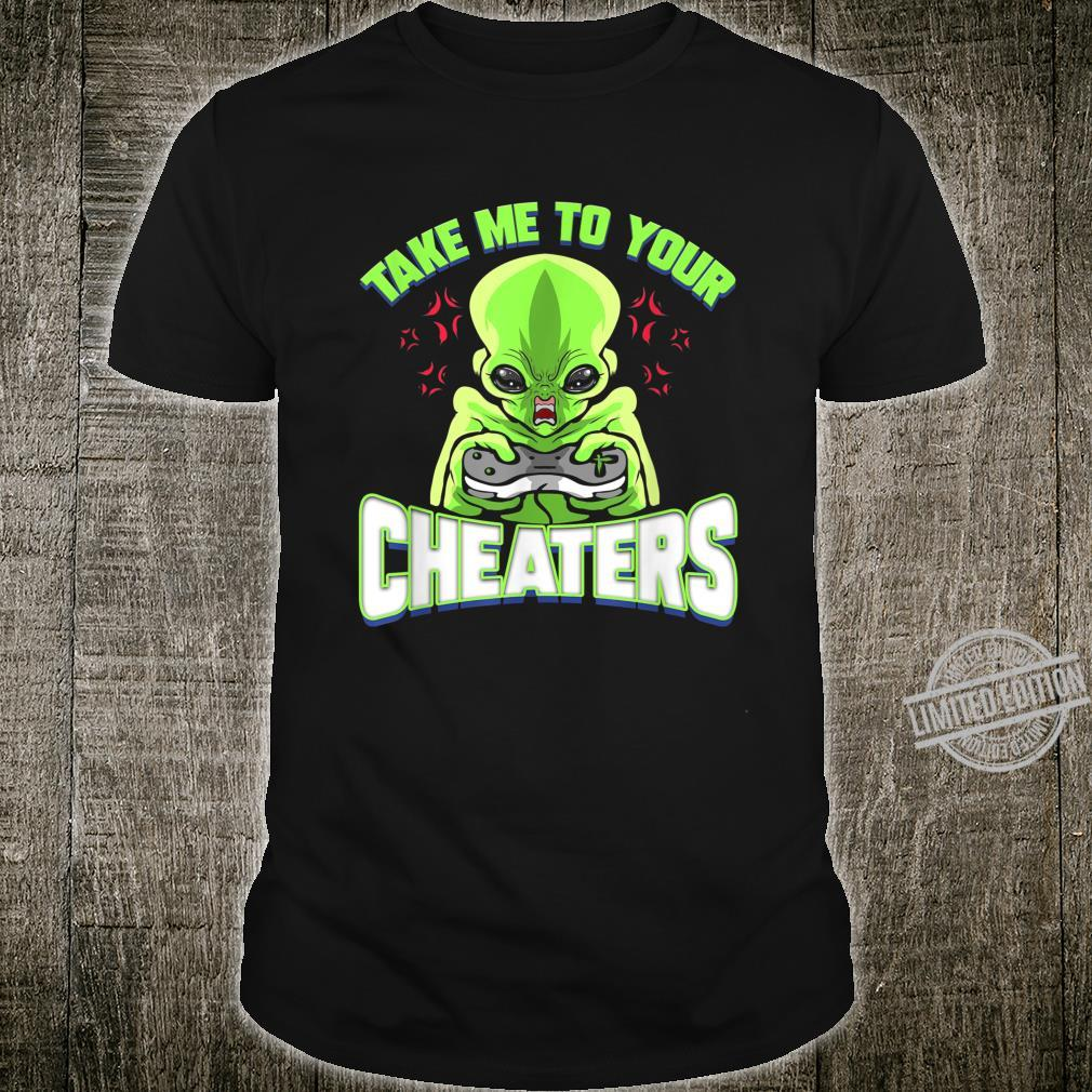 Alien Gamer for Video Gaming Console Cheater Shirt