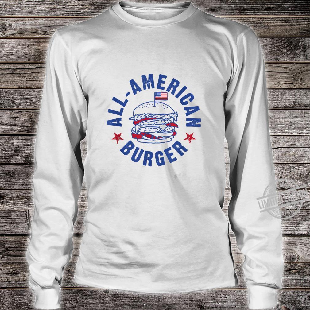AllAmerican Burger Hamburger Eating Shirt long sleeved