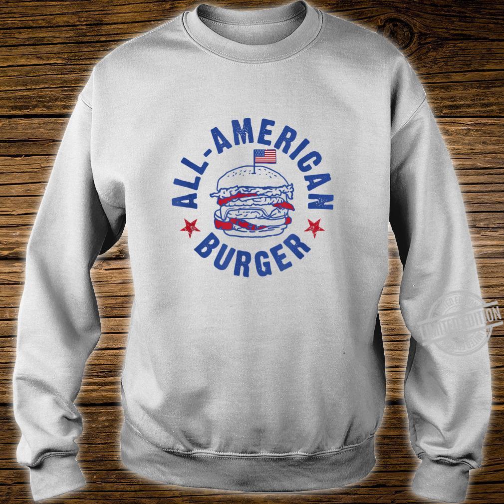 AllAmerican Burger Hamburger Eating Shirt sweater