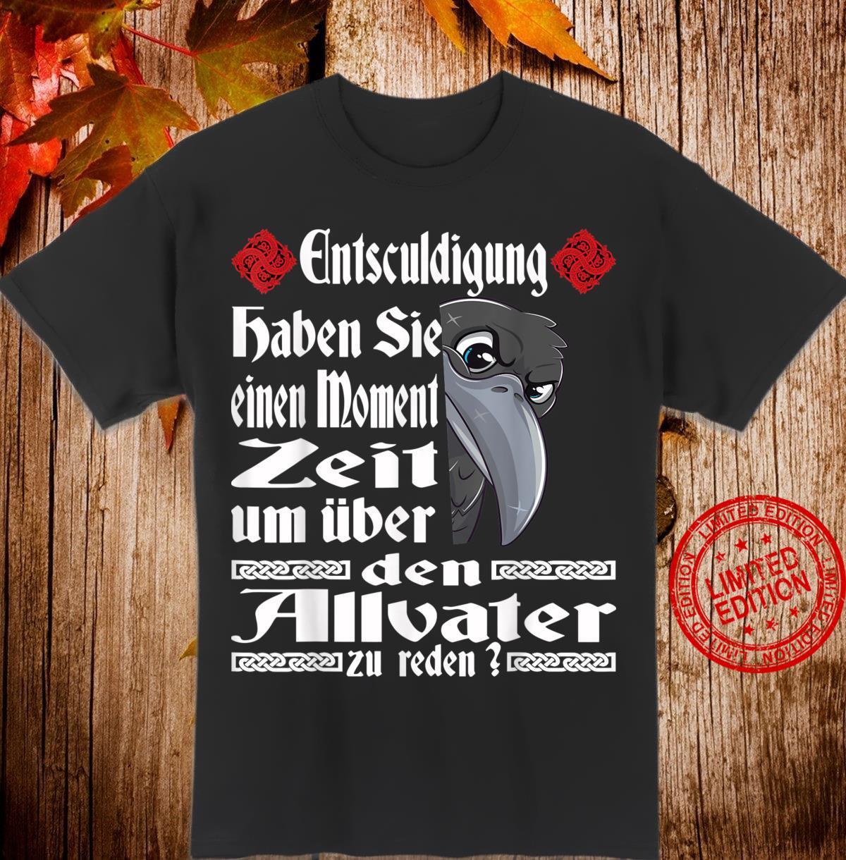 Allvater Odins Raben Lustig Spruch Wikinger Germanen Shirt
