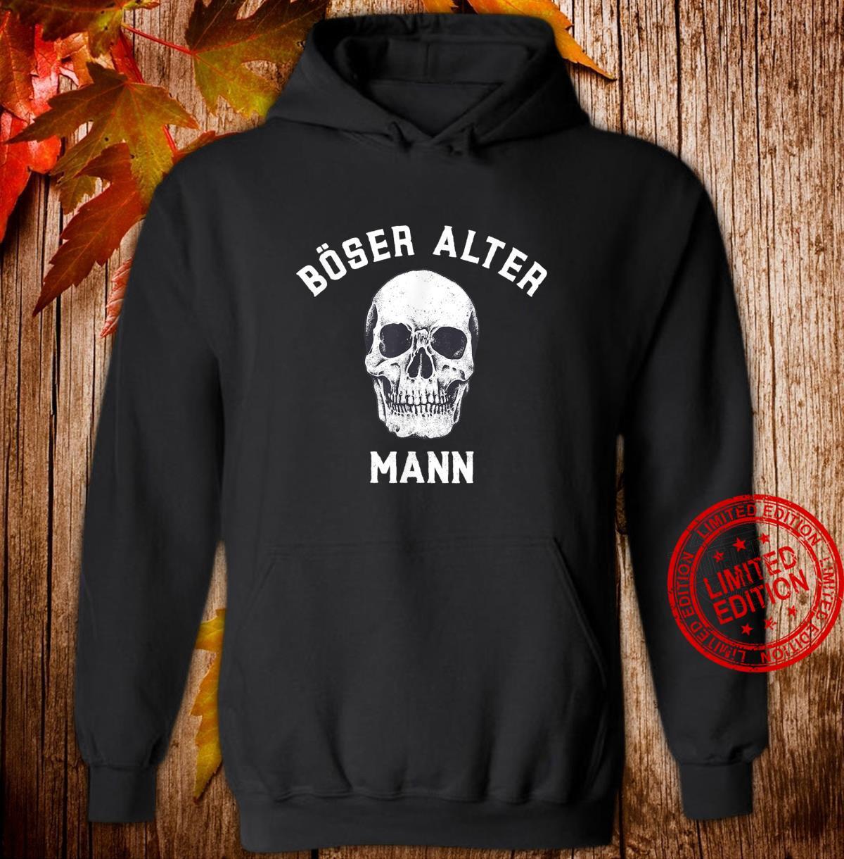 Alt Totenkopf Opa Vater Großvater Böser alter Mann Shirt hoodie