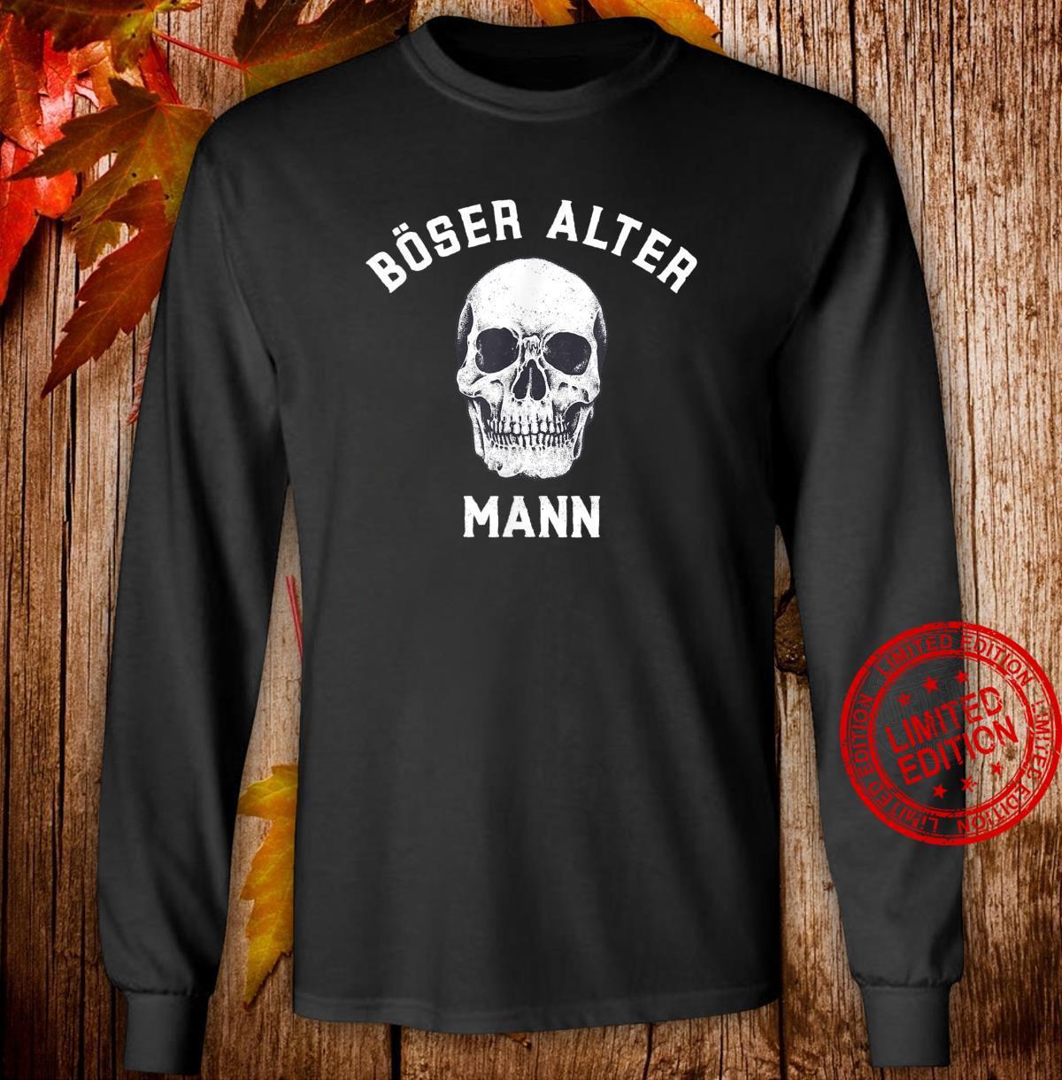Alt Totenkopf Opa Vater Großvater Böser alter Mann Shirt long sleeved