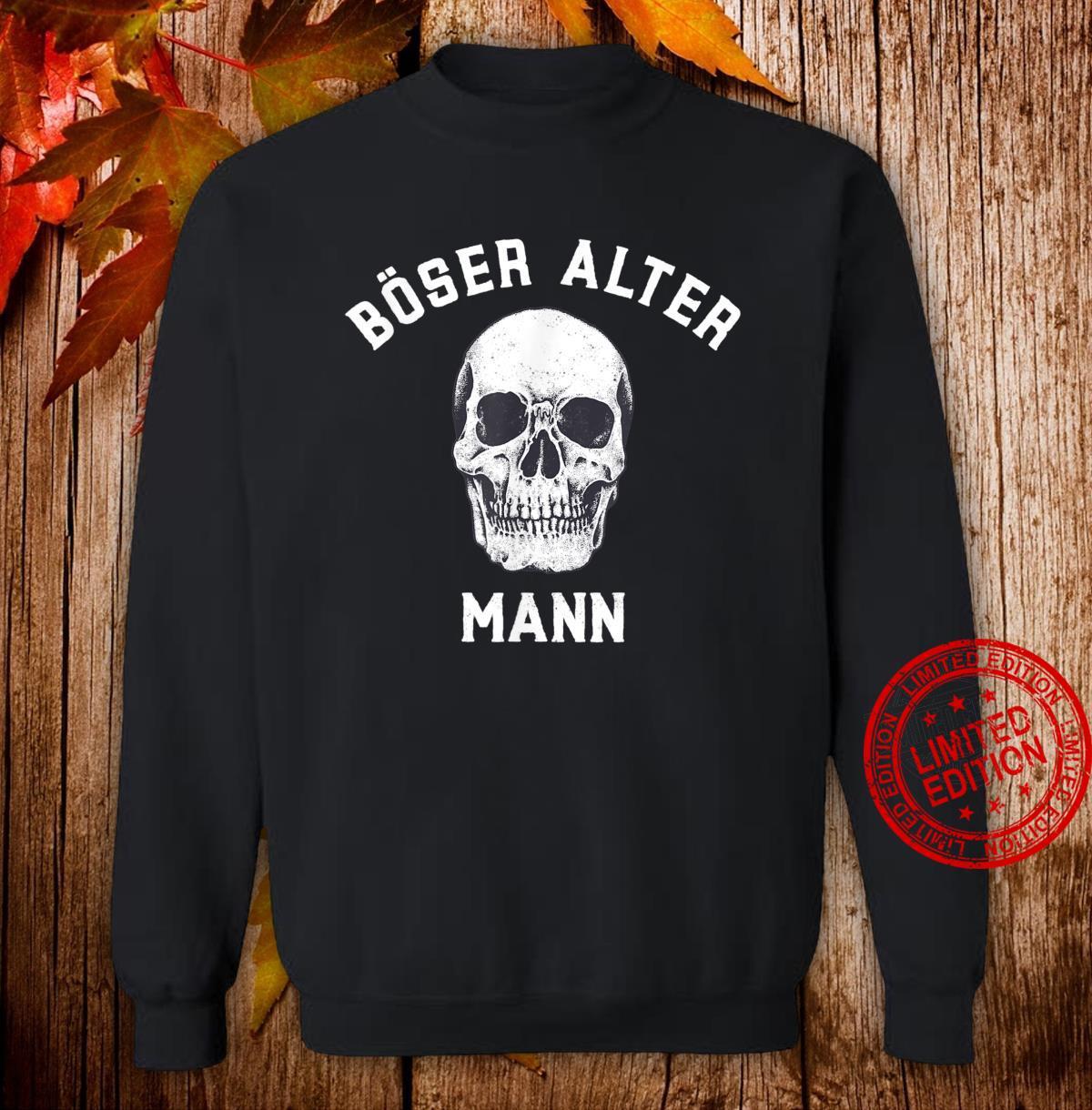 Alt Totenkopf Opa Vater Großvater Böser alter Mann Shirt sweater