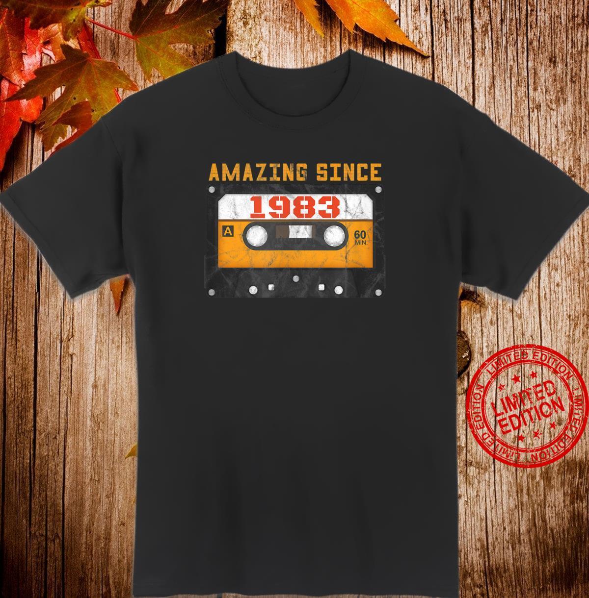 Amazing Since 1983 Birthday Vintage Cassette Tape Shirt