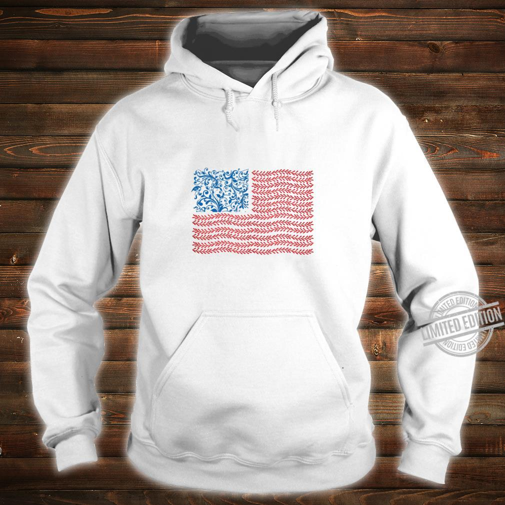 America Floral Flag Patriot USA 4th of July Cute Shirt hoodie
