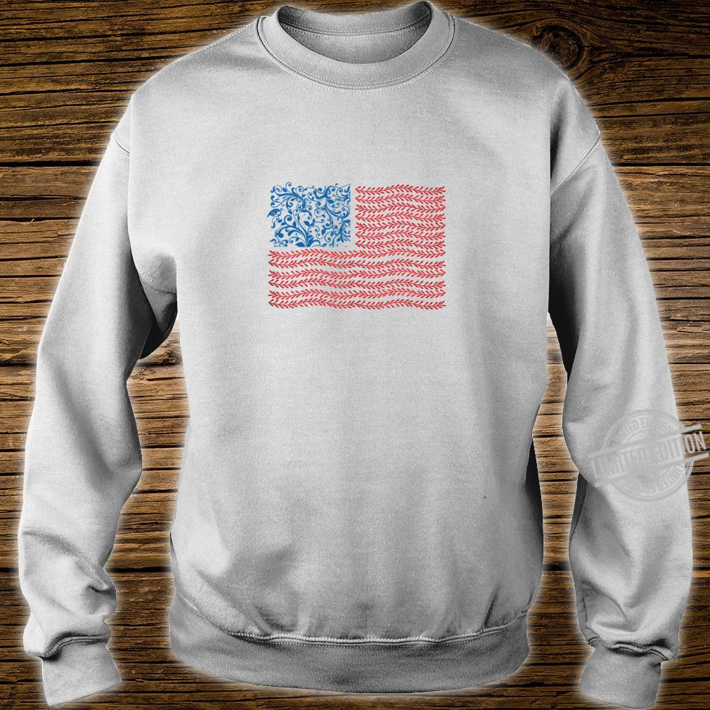 America Floral Flag Patriot USA 4th of July Cute Shirt sweater