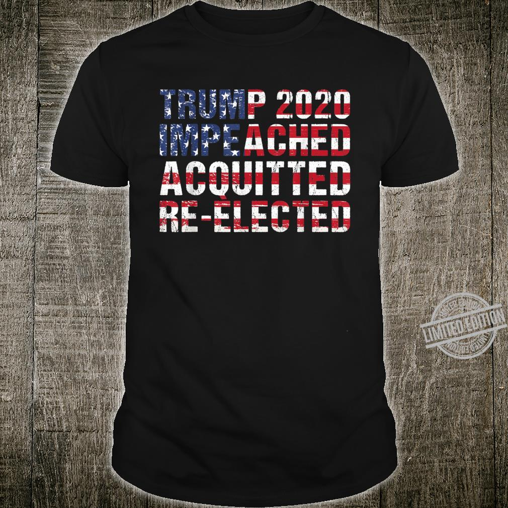 American Flag Trump 2020 Impeached Acquitted Shirt
