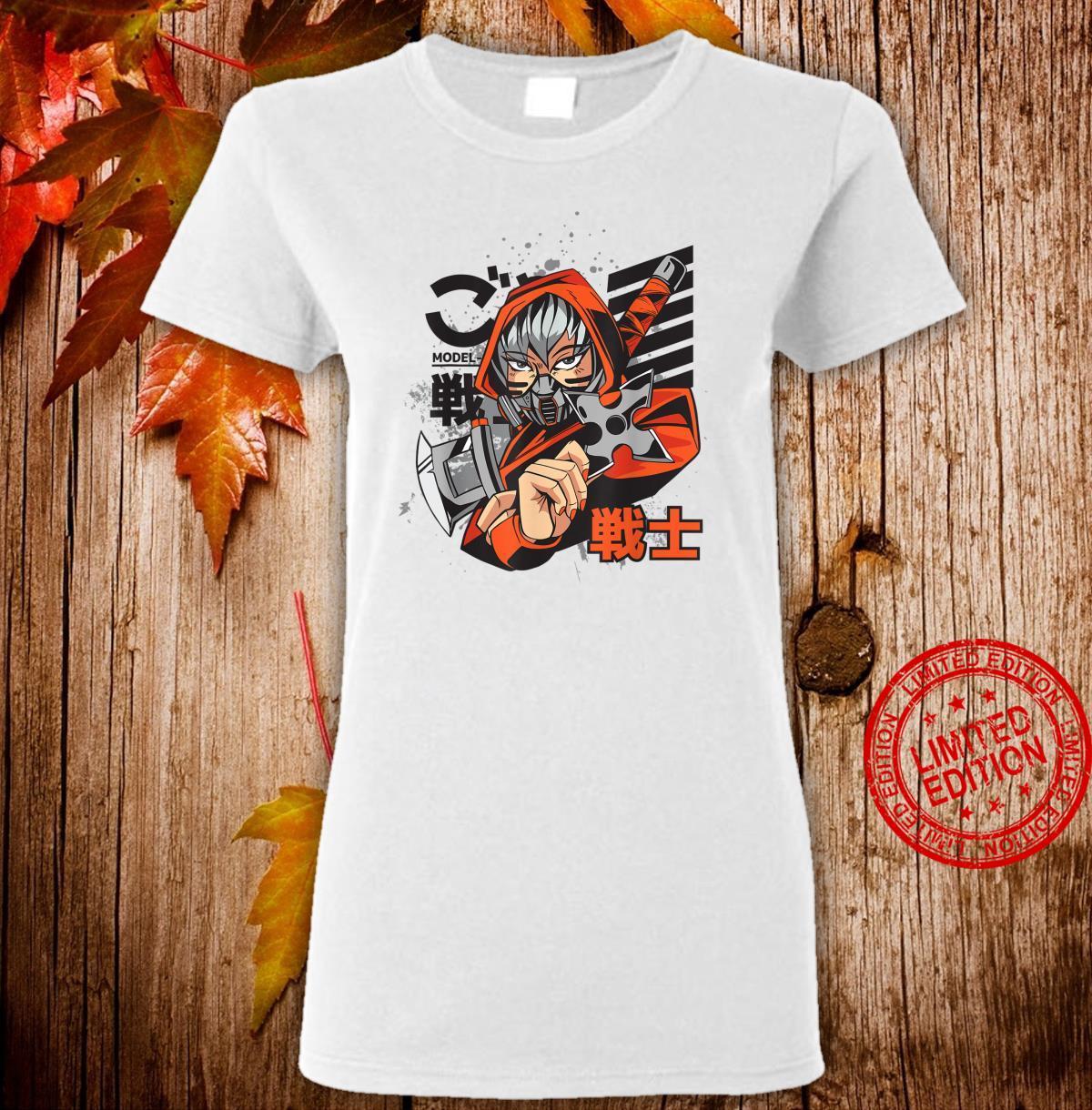 Anime Japanese Ninja Girl Aesthetic Shojo Anime Shirt ladies tee