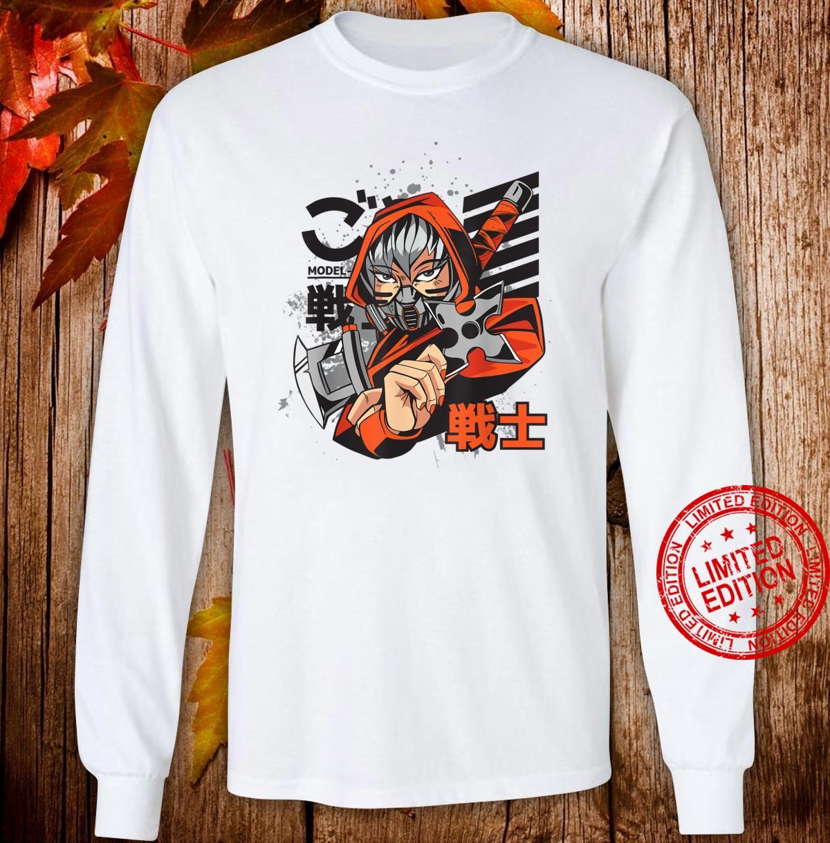 Anime Japanese Ninja Girl Aesthetic Shojo Anime Shirt long sleeved