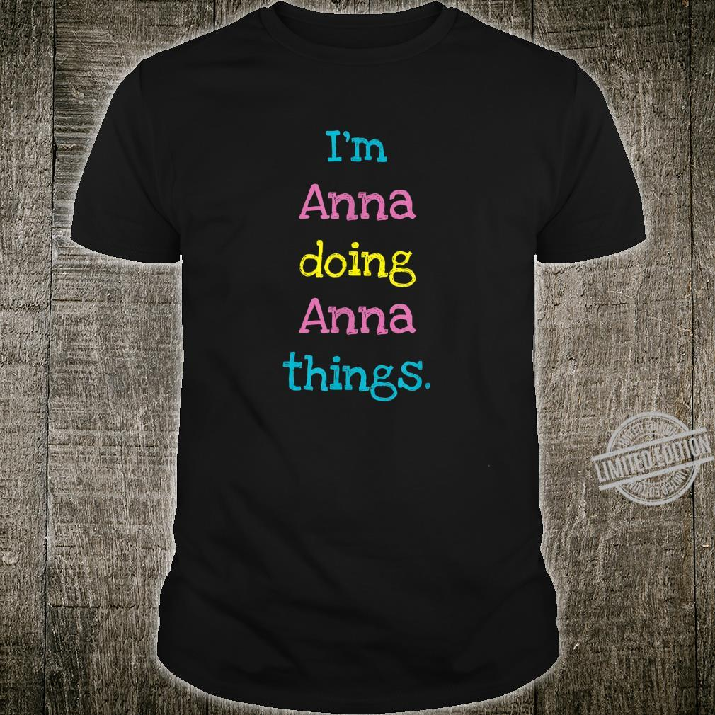 Anna Cute Personalized Text Kid's Top For Girls Shirt