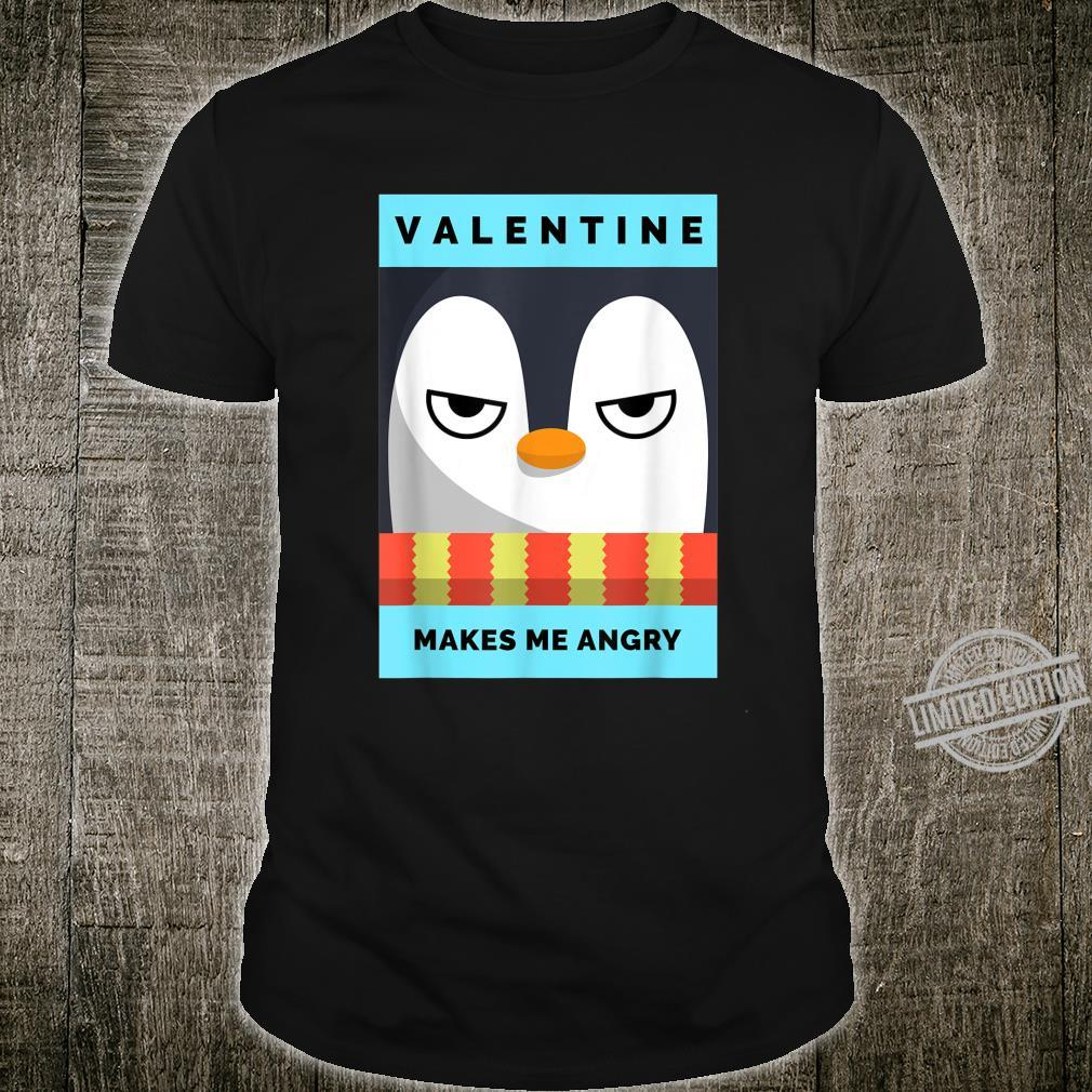 Anti valentines day, Angry Penguin. Shirt