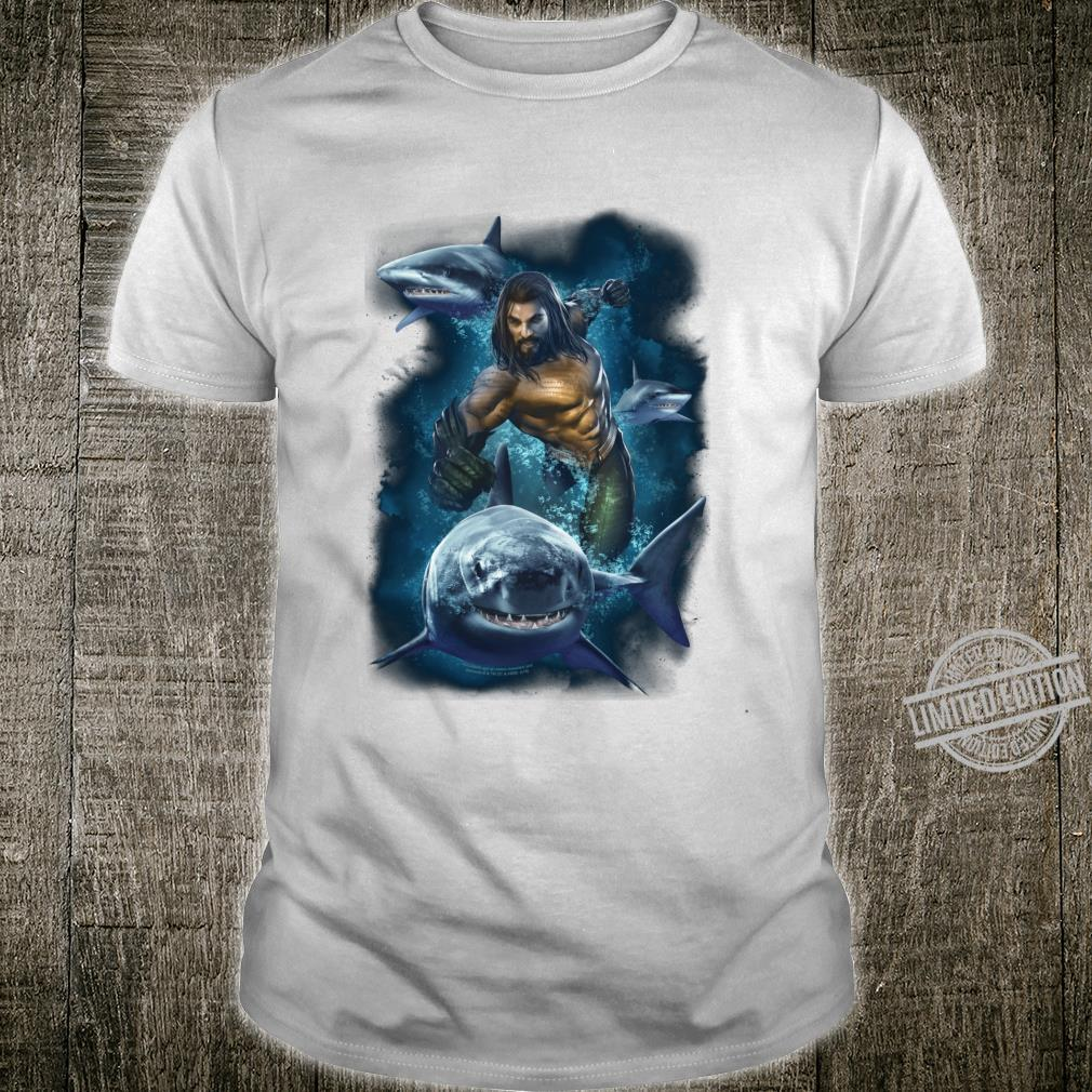 Aquaman Movie Swimming With Sharks Langarmshirt Shirt