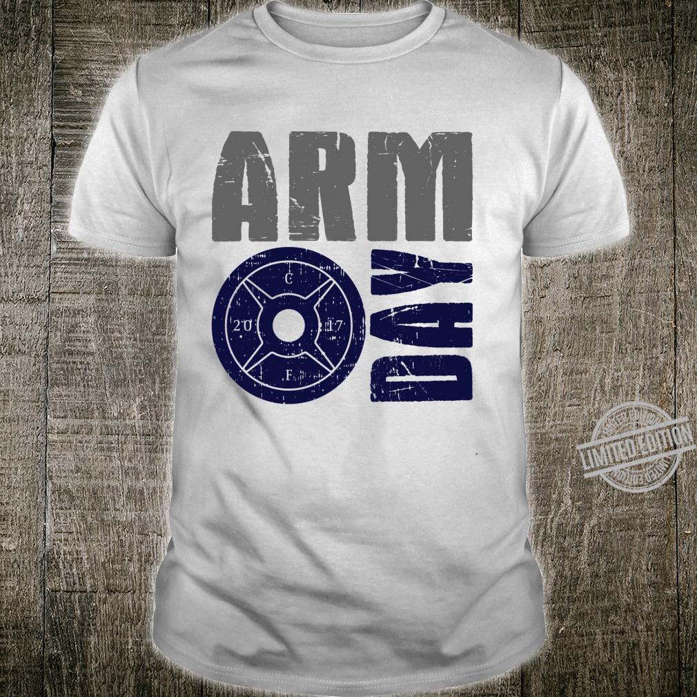 Arm Day Bizep und Trizeps Gym Ratte Langarmshirt Shirt