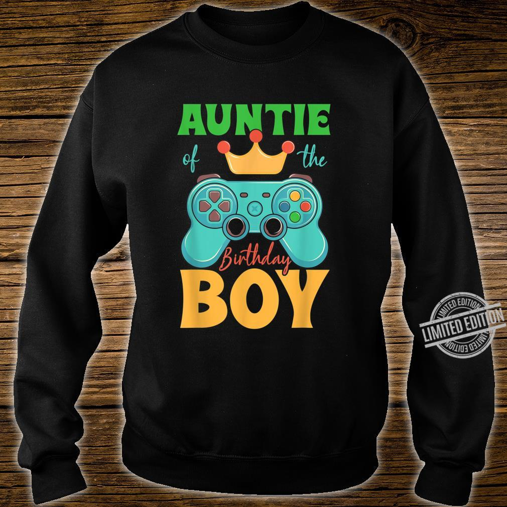 Auntie of the Birthday Boy Matching Video Gamer Bday Party Shirt sweater