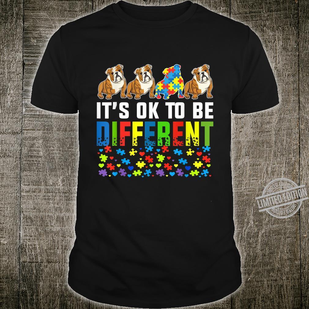 Autism Awareness English Bulldog Dog Shirt