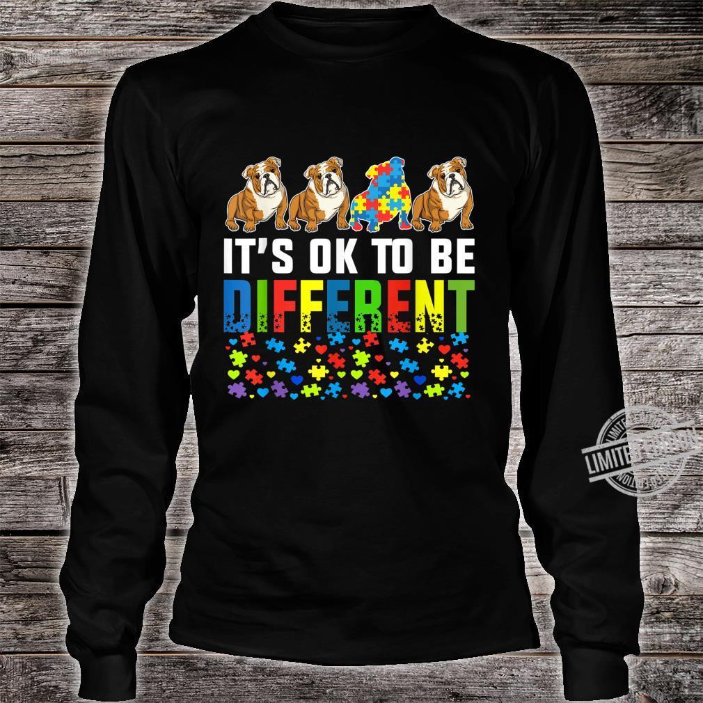 Autism Awareness English Bulldog Dog Shirt long sleeved