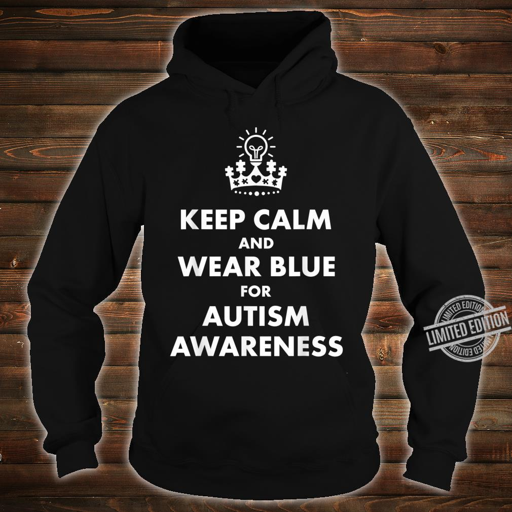 Autism Blue Keep Calm Light Bulb Puzzle Awareness Support Shirt hoodie