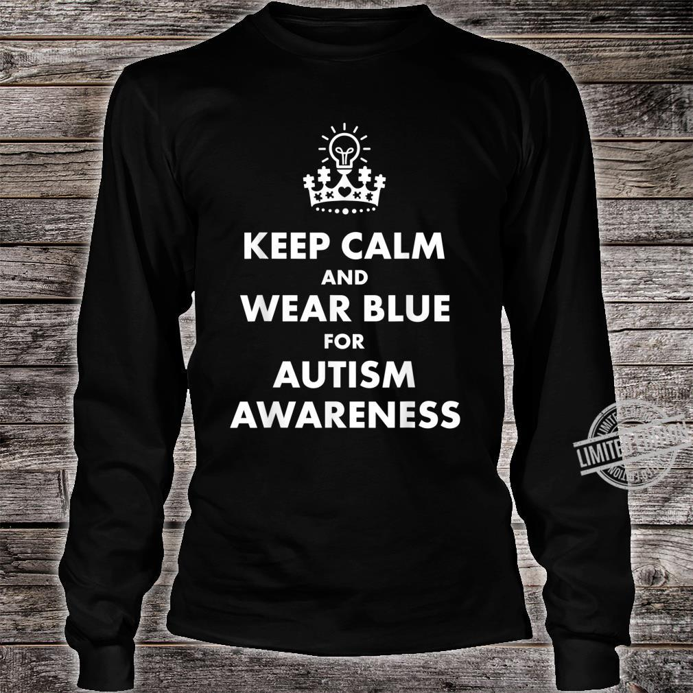 Autism Blue Keep Calm Light Bulb Puzzle Awareness Support Shirt long sleeved