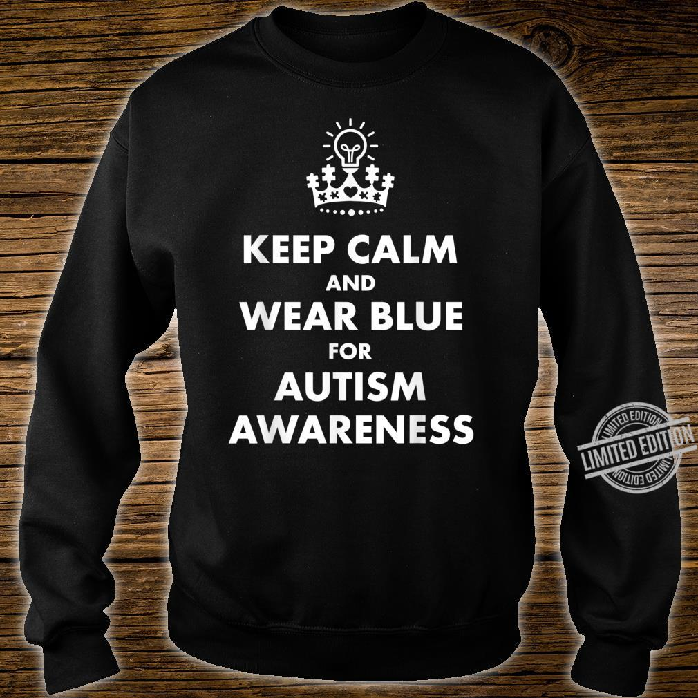 Autism Blue Keep Calm Light Bulb Puzzle Awareness Support Shirt sweater