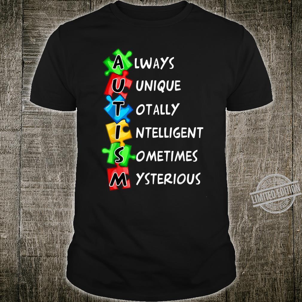 Autism Definition World Autism Awareness Day Shirt