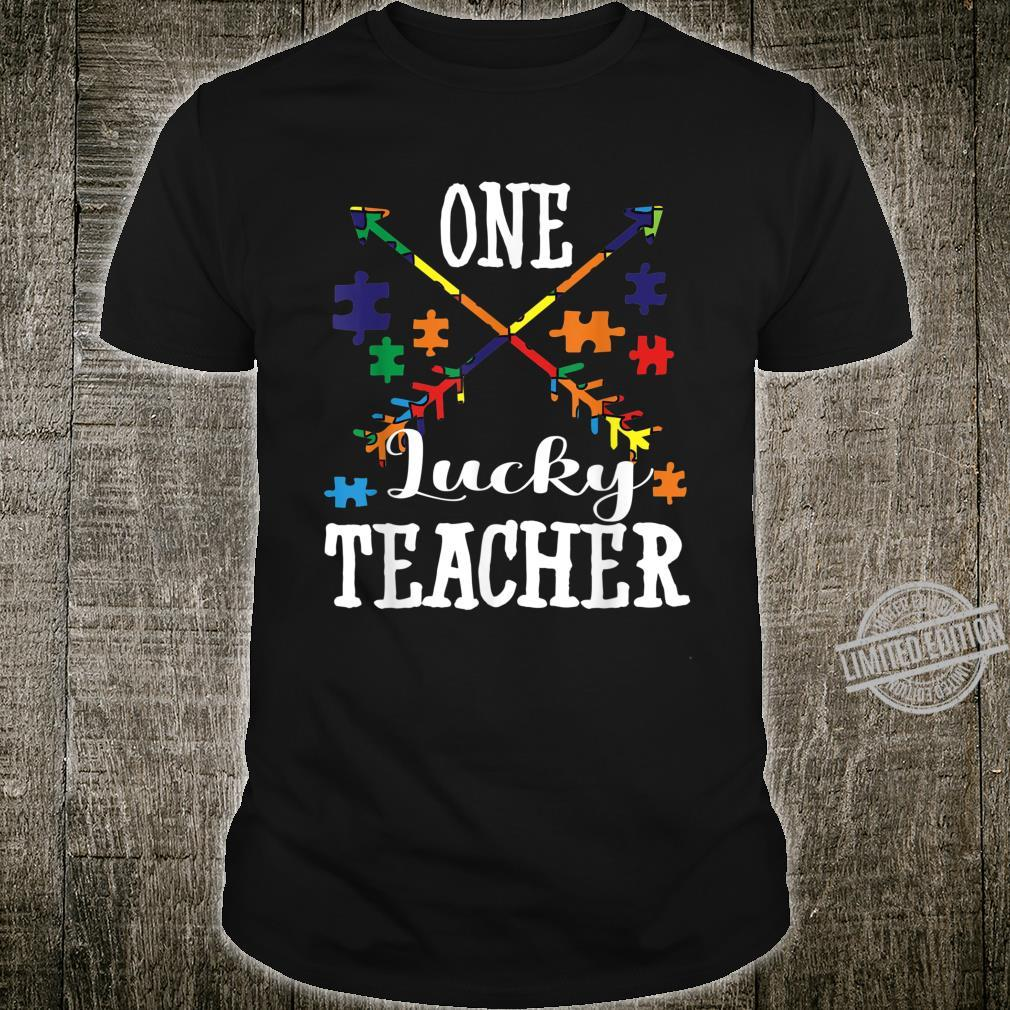 Autism Teacher One Lucky Teacher Autism Awareness Shirt