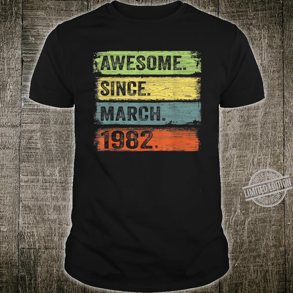 Awesome Since March 1982 38th Birthday Shirt