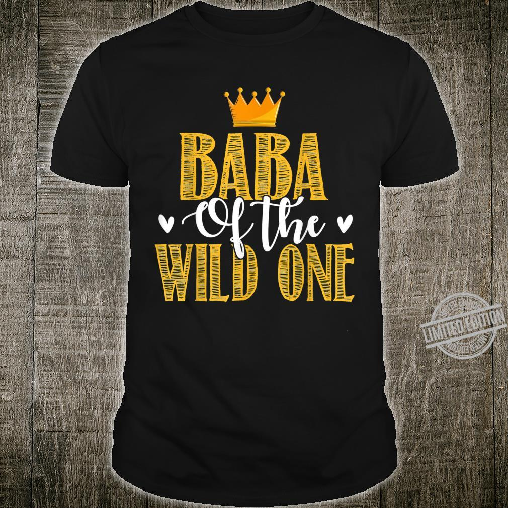 Baba Of The Wild One Cute 1st Birthday Daddy Shirt