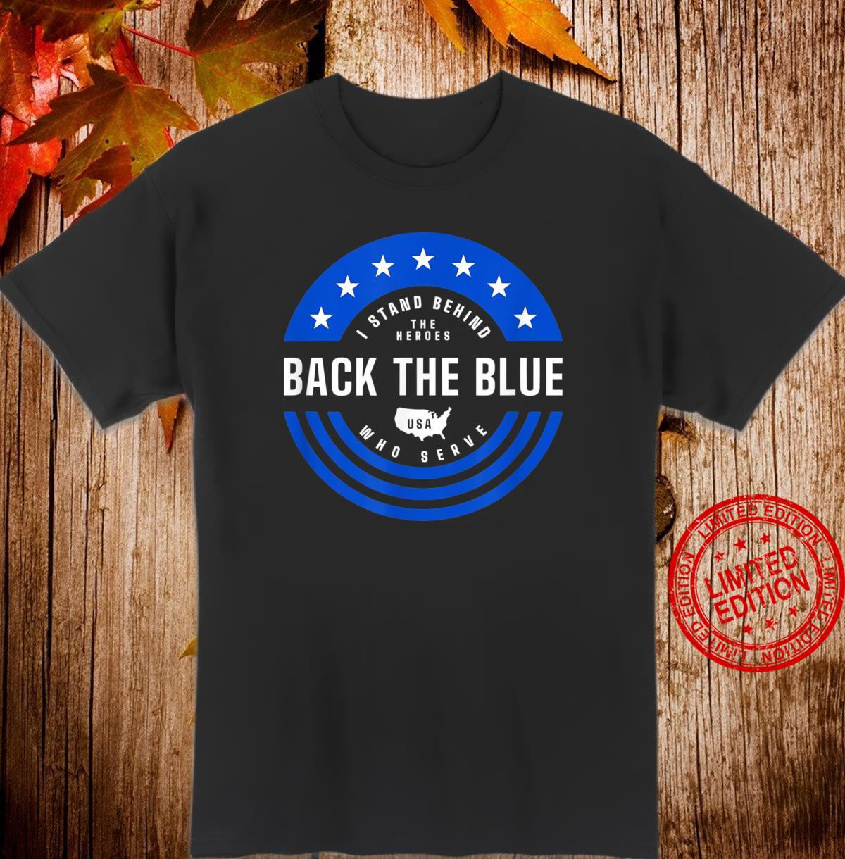 Back The Blue Thin Blue Line Flag Police Flag Hero Shirt