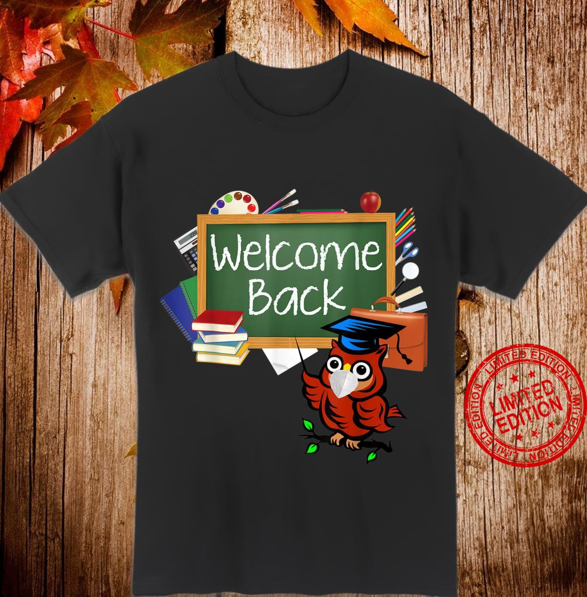 Back To School Welcome StudentTeacher Owl Mask Shirt
