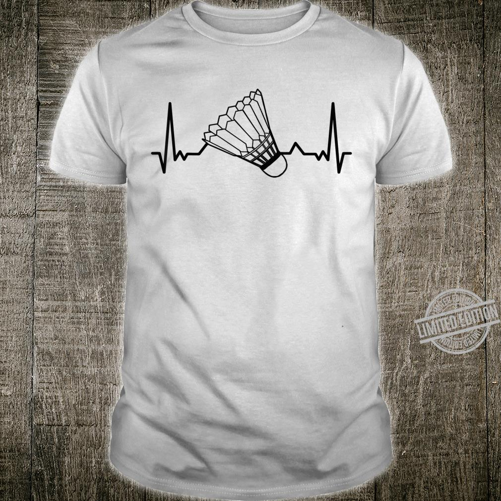 Badminton Shuttlecock court game sport Heartbeat BADMINTON Shirt
