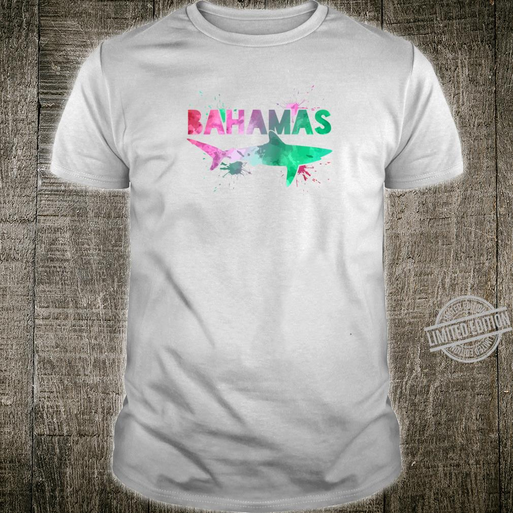 Bahamas Shark Scuba Diving Watercolor Art Souvenir Shirt
