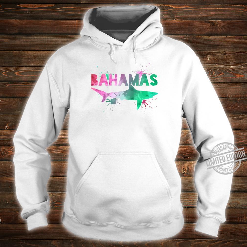 Bahamas Shark Scuba Diving Watercolor Art Souvenir Shirt hoodie