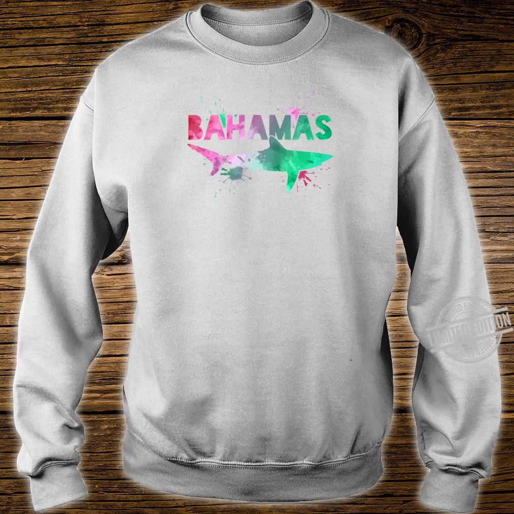 Bahamas Shark Scuba Diving Watercolor Art Souvenir Shirt sweater