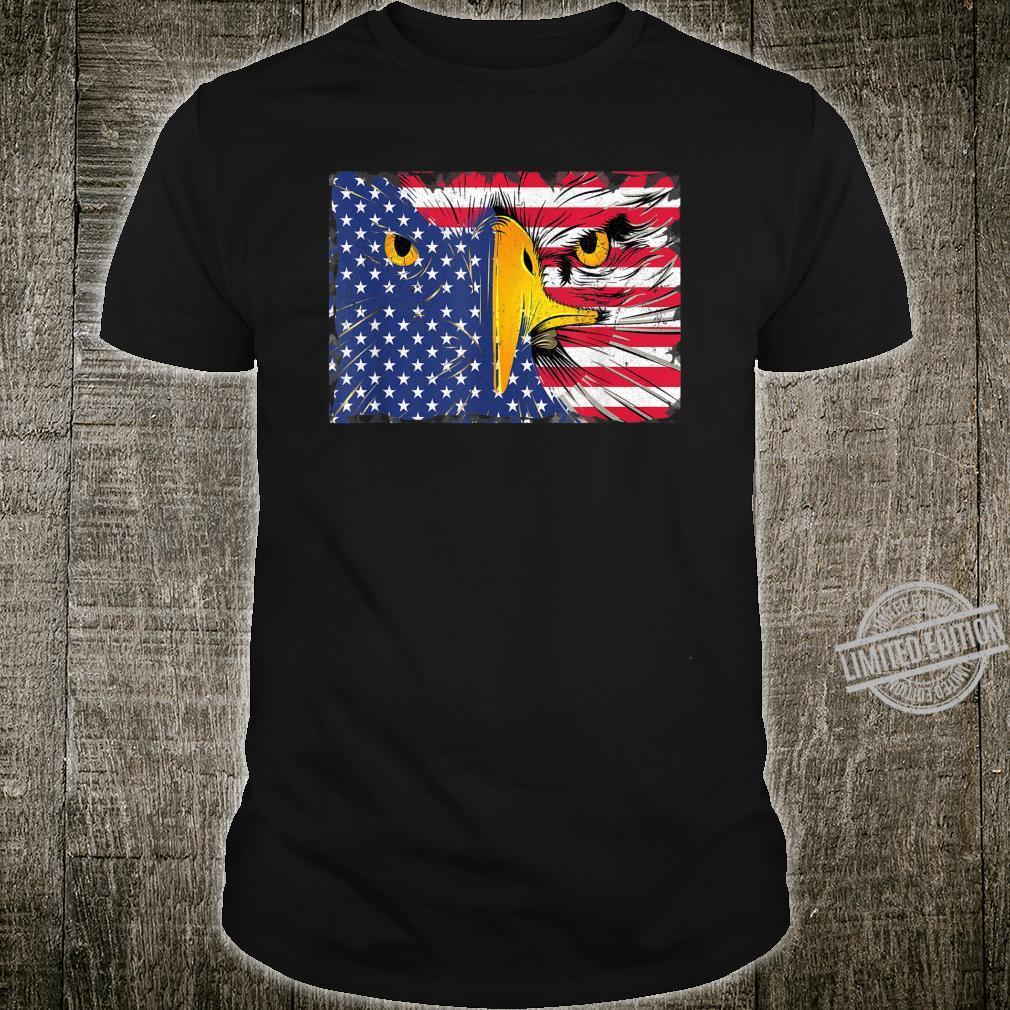Bald Eagle American Flag USA 4th Of July Shirt