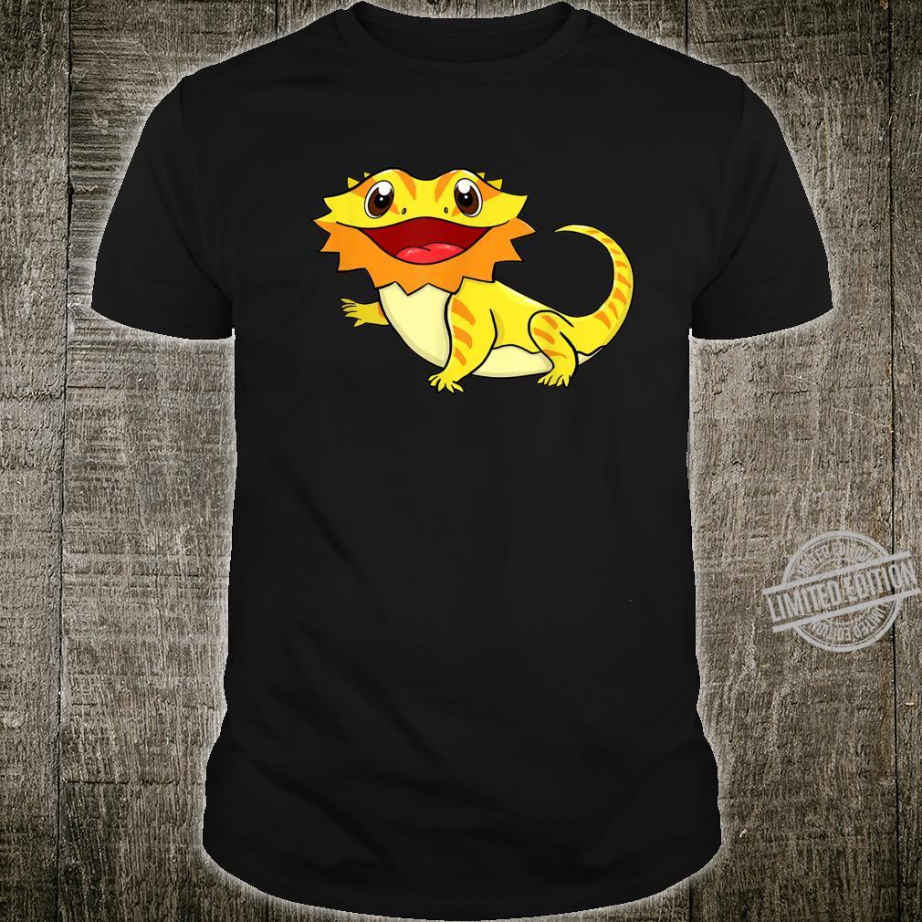 Bartagame Bartagamen Reptilien Eidechse Haustier Tier Schwar Shirt