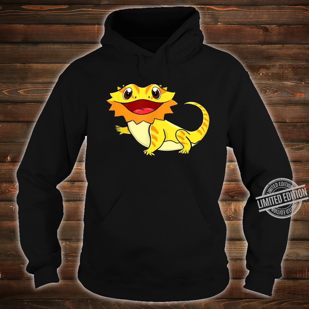 Bartagame Bartagamen Reptilien Eidechse Haustier Tier Schwar Shirt hoodie